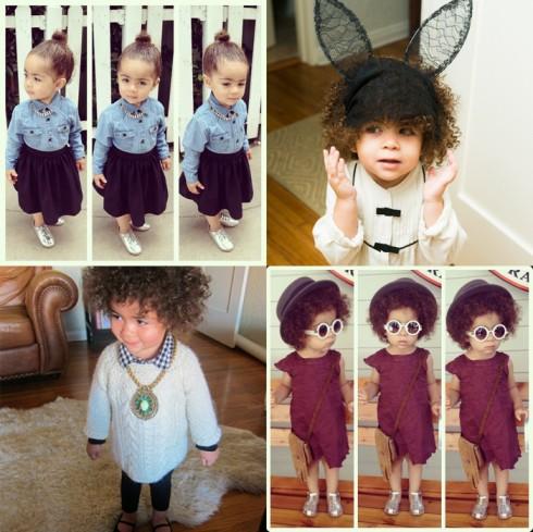 6. Alaia Rose Barbier <br/>Cô bé 3 tuổi này là con gái của stylist Monica Rose  - stylist chính của gia đình Kardashian.
