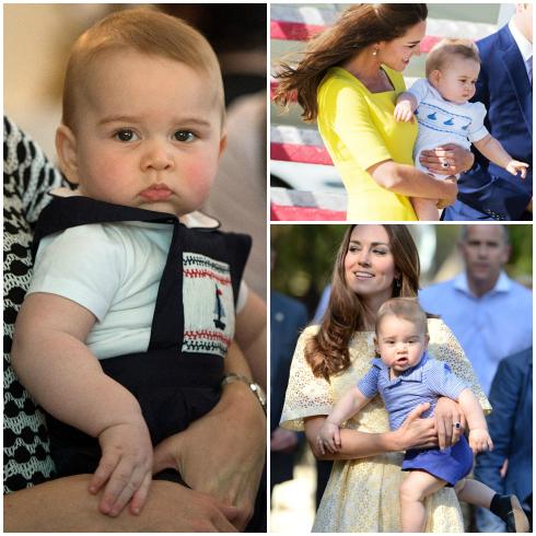 14. Hoàng tử bé George<br/>Con trai đầu lòng của Hoàng tử Anh William và Công nương Kate Midleton.