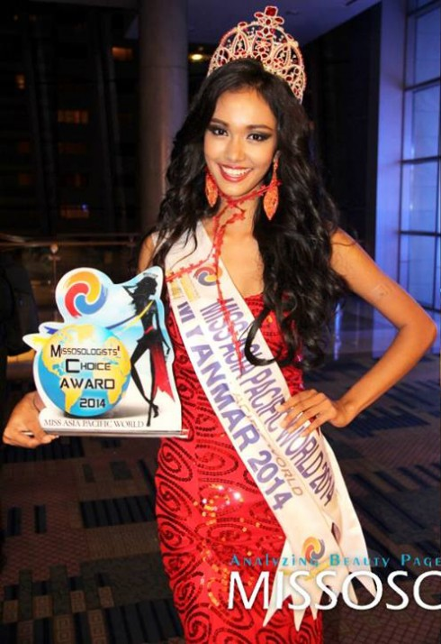 Người đẹp May Myat Noe đăng quang cuộc thi Hoa hậu châu Á Thái Bình Dương
