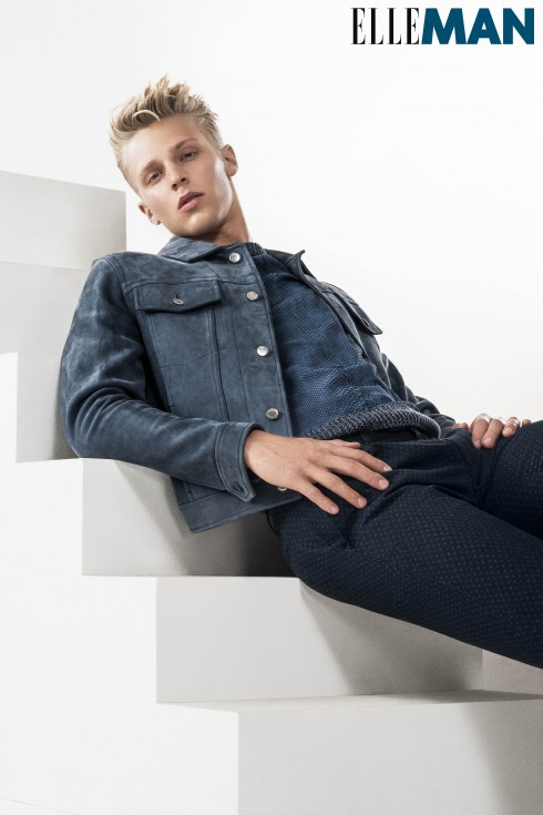 Áo khoác và áo top Louis Vuitton, Quần jeans Canali