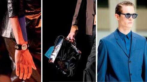 Từ trái qua: Versace, Prada, Dior Homme