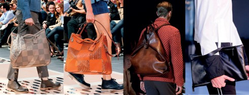 Từ trái qua: Louis Vuitton, Louis Vuitton, Gucci, Jil Sander
