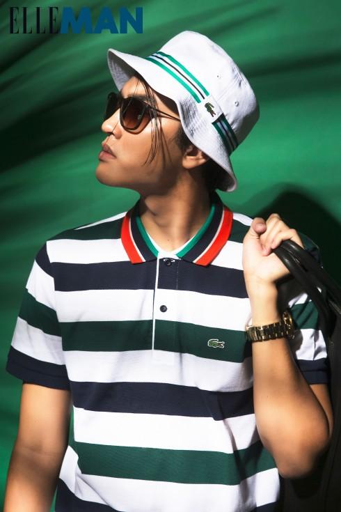 Áo polo thể thao<br/>Áo T-Shirt và Mũ Lacoste, Túi Desino, Kính, Đồng hồ của Stylist