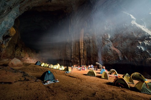 Bãi cắm trại nghỉ đêm của đoàn thám hiểm Sơn Đoòng