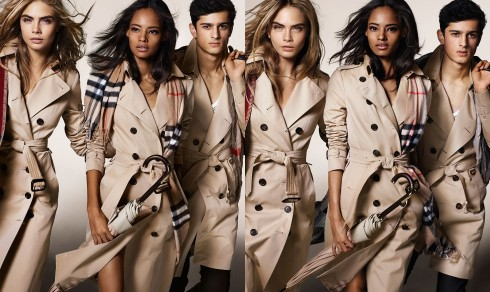 Introducing the Burberry Autumn:Winter 2014 campaign with a dynamic cast of young British talent including Cara Delevingne, Malaika Firth and Tarun Nijjer wearing heritage trench coats and accessories