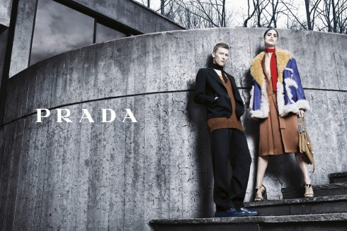 Mica Arganaraz and Karl Kolbitz by Steven Meisel for Prada Fall Winter 2014-2015