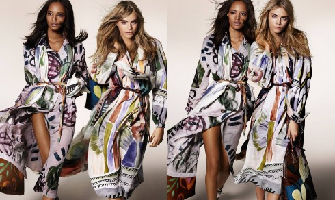 The new Prorsum Autumn:Winter 2014 campaign reflecting the artistic spirit of Burberry - starring Cara Delevingne and Malaika Firth