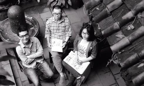 Ba tác giả của bộ Long thần tướng: Khánh Dương, Thành Phong và Mỹ Anh