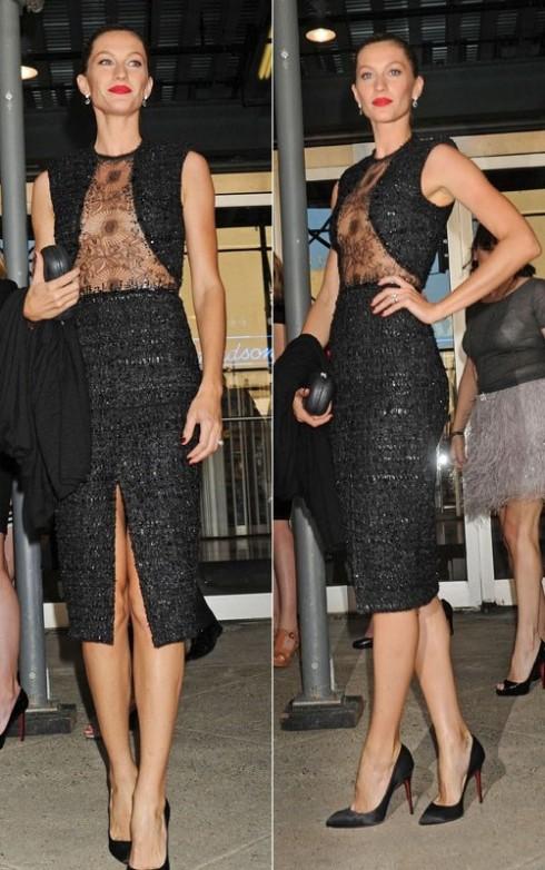 2011: Cô đến tham dự Robin Hood Foundation Gala trong một thiết kế độc đáo của Emanuel Ungaro với phần sheer trước ngực.
