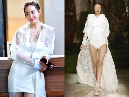 Lee Da Hae diện trang phục xuân hè Mag & Logan, một thương hiệu được nhiều ngôi sao xứ kim chi ưa chuộng.