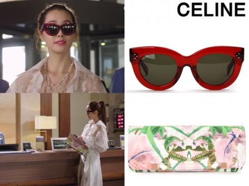 Hãng phim tạo hình ảnh quý phái cho ngôi sao xinh đẹp với kính Celine có giá trên 9 triệu đồng, ví Ted Baker khoảng 2 triệu và vòng cổ Mzuu hơn 4 triệu đồng.