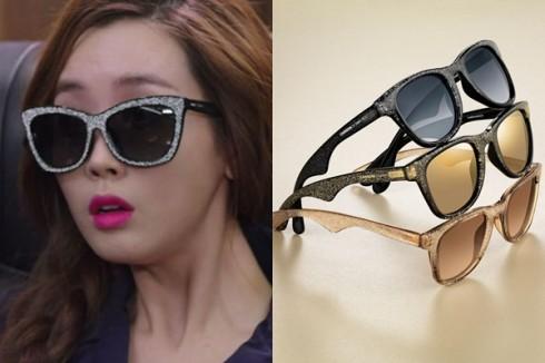 Cặp kính Carrera by Jimmy Choo to bản, gọng lấp lánh sành điệu được nhân vật mang trong tập 2 của bộ phim.