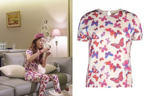 Áo và quần họa tiết vui nhộn từ thương hiệu Vanessa Bruno.