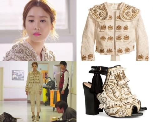 Cô con gái chủ khách sạn giàu có trong style cổ điển, từ áo quần, sandal, túi xách đều của H&M.