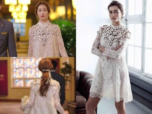 Chiếc váy ren trắng trang trí đá nằm trong bộ sưu tập xuân năm nay của H&M.