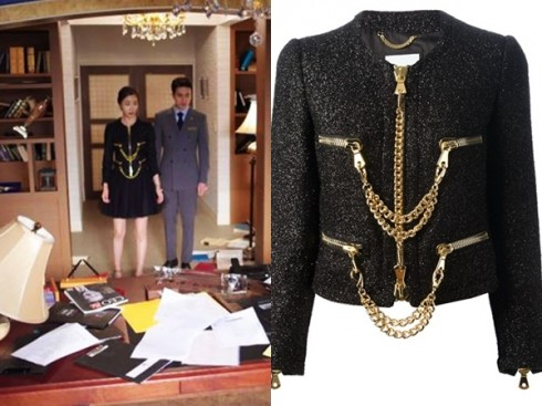 Áo khoác và chân váy Moschino đắt đỏ cũng được nhà làm phim đầu tư cho nhân vật của Lee Da Hee.
