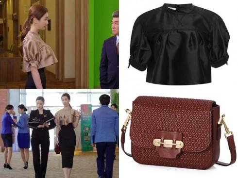 Mỹ nhân xứ Hàn cùng crop-top thương hiệu Aquilano Rimondi và túi xách mini Tod.
