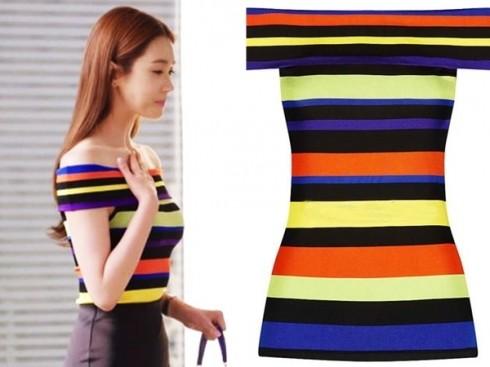 Váy kẻ ngang vai trần từ thương hiệu Ralph Lauren có giá khoảng hơn 16 triệu đồng.
