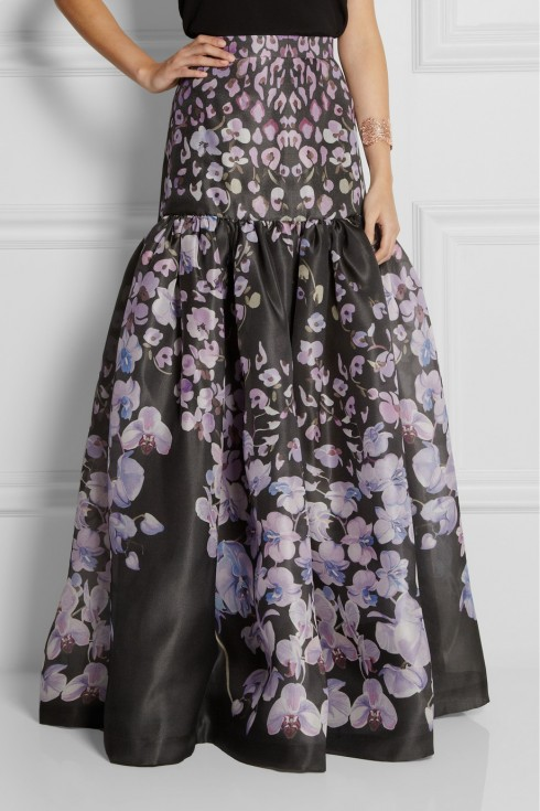 đầm dài in hoa