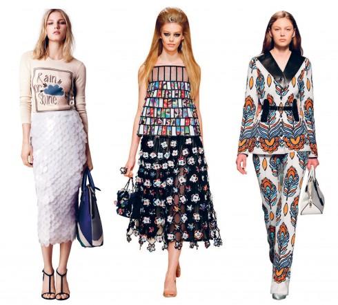 Từ trái qua: Burberry, Chanel, Louis Vuitton