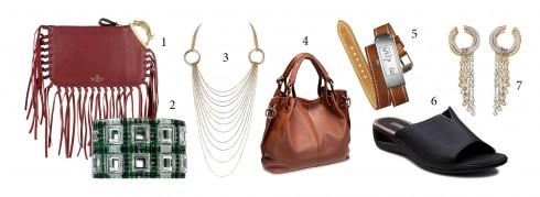 1.Valentino 2.Chanel 3.Cartier 4.Ecco 5.Hermès 6.Ecco 7.Cartier