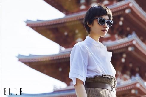 Sơmi, chân váy và vòng cổ Hermès, Kính mát Jimmy Choo