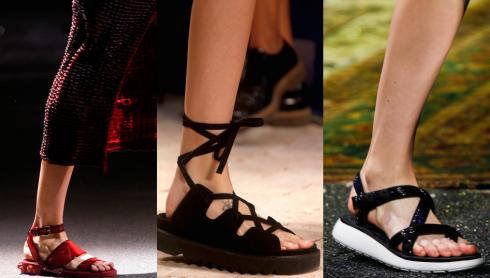 Nhiều tên tuổi lớn như Givenchy, Celine, Marc Jacobs cùng lúc lăng-xê trào lưu giày này