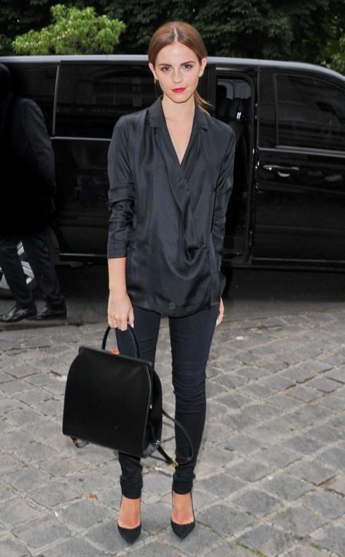 Emma-Watson trong buổi giới thiệu BST Giambattista Valli.