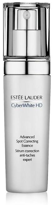 Tinh chất Estée Lauder Cyber White HD Advanced Spot Correcting Essence có khả năng chống thâm, làm mờ sẹo và mang lại vẻ tươi sáng, mạnh khỏe cho da. Khi nhỏ một giọt tinh chất này ra tay, bạn sẽ thấy ngay sự đặc biệt với chất nhũ không quá đặc, giàu vitamin C và dưỡng chất, thấm nhanh và cải tạo da từ bên trong. Giá khoảng 1.850.000 VNĐ.
