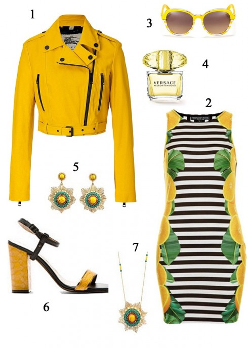 Thứ 5: Màu vàng tươi tắn sẽ giúp bạn có thêm năng lượng cho ngày mới<br/>1. BURBERRY 2. TOPSHOP 3. DIOR 4. VERSACE 5. LES NEREIDES 6. LANVIN 7. LES NEREIDES