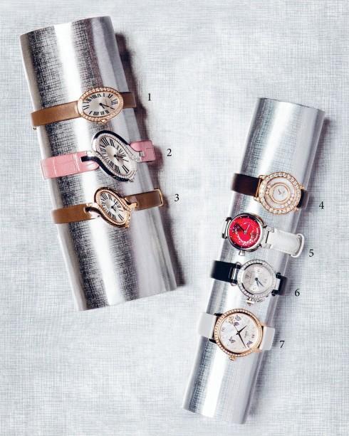 1&2&3.Cartier 4.Chopard 5.Louis Vuitton 6.Cartier 7.Omega