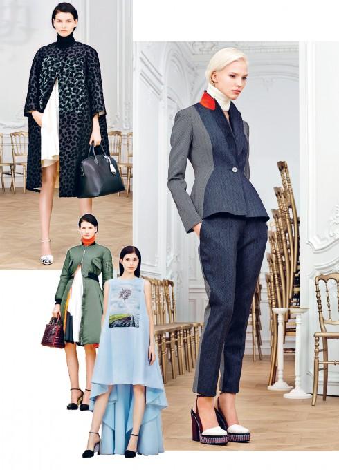 Những dáng trang phục đặc trưng của nhà Dior được làm mới bằng chất liệu thượng hạng và kỹ thuật may đo tinh xảo.