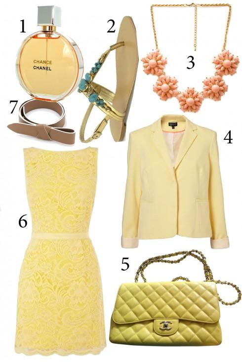 Thứ 5: Ấm áp và rực rỡ với tông vàng cam<br/>1. Chanel 2. Charles &amp; Keith 3. Accessorize 4. Topshop 5. Chanel 6. Warehouse 7. Lanvin