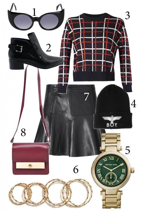 Thứ 3: Chân váy ngắn, hơi xoè kết hợp áo sweater lấy cảm hứng từ trang phục