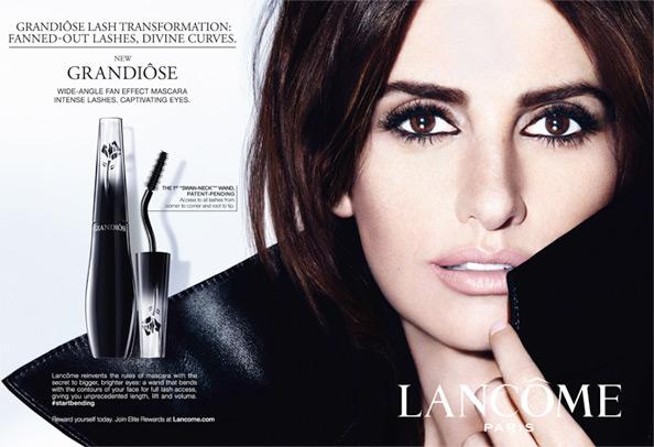 Penelope Cruz đại diện cho chiến dịch quảng cáo mascara mới của Lancôme