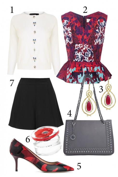 Thứ 6: Dịu ngọt với gam màu hồng và chiếc áo peplum nữ tính.<br/>1. KAREN MILLEN 2. PITER PILOTTO 3. ACCESSORIZE 4. DKNY 5. VALENTINO 6. KENZO 7. TOPSHOP