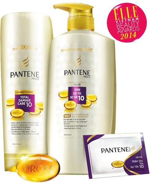 <strong>10. PANTENE Total Damage Repair</strong><br/>Dầu gội và dầu xả chăm sóc tóc hư tổn Pantene Total Damage Care chứa các thành phần từ thiên nhiên được đặc chế dành cho tóc hư tổn, nay được tăng cường thêm công nghệ Ngăn ngừa hư tổn với lớp Keratin giúp bảo vệ hư tổn đến 99%. Sản phẩm nhẹ nhàng làm sạch mà không gây tổn hại đến mái tóc hay da đầu, giúp bạn nuôi dưỡng và phục hồi mái tóc mềm mượt suôn thẳng. 215.000 VNĐ.