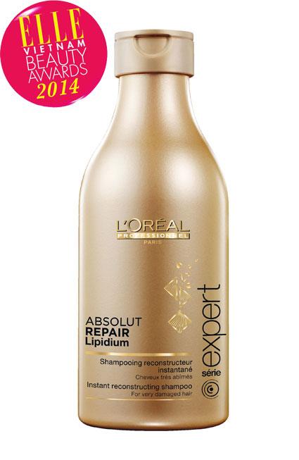 <strong>6. L'ORÉAL PROFESSIONEL Absolut Repair Lipidium</strong><br/>Dầu gội Absolut Repair Lipidium có công dụng tái tạo biểu bì và phục hồi tóc hư tổn. Thành phần Lipids giúp khôi phục và tái tạo bề mặt tóc bóng mượt, Phyto-Keratin & Ceramide củng cố và tăng cường các liên kết bên trong sợi tóc và Lactic Acid tái cấu trúc lõi tóc chắc khỏe. Mái tóc khô và hư tổn dần phục hồi và khỏe hơn từ bên trong.