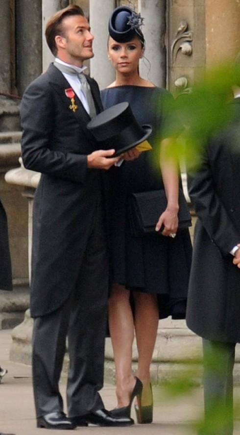 Năm 2011: Vợ chồng Beck - Vic tại đám cưới Hoàng gia Anh.
