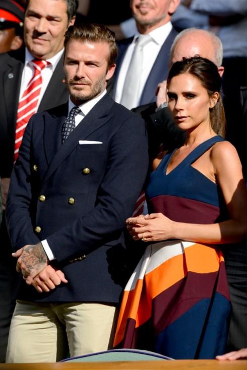 NĂm 2014: Victoria và Beckham cùng đi xem một trận quần vợt.