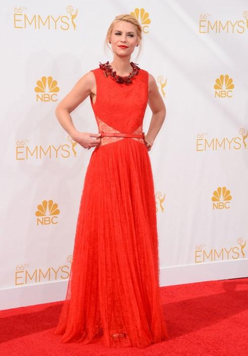 Claire Danes, ngôi sao Homeland, quyến rũ trong mẫu đầm đỏ của Givenchy