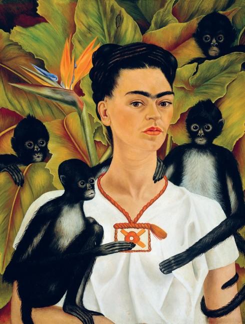 Tự họa của nữ họa sĩ Frida Kahlo