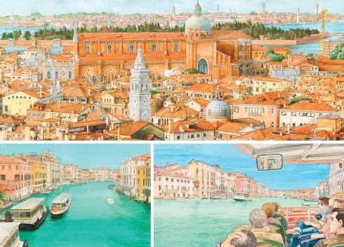 Venice hiện ra thật mềm mại qua những nét vẽ màu nước
