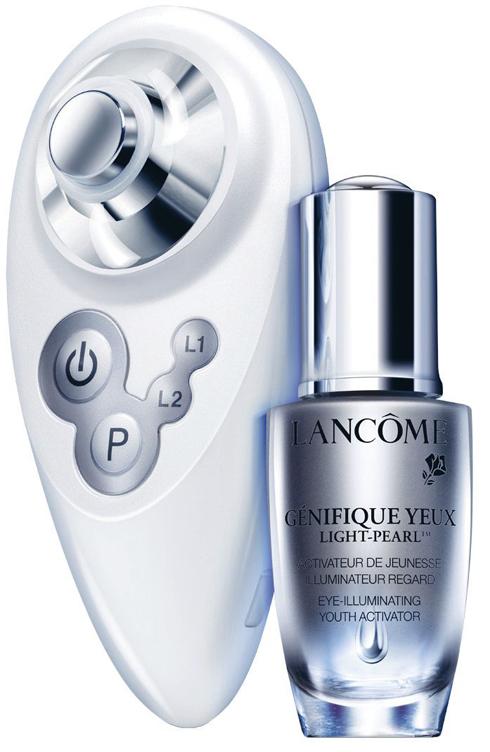 Tinh chất dưỡng mắt Advanced Génifique kết hợp với máy massage Probe của LANCÔME
