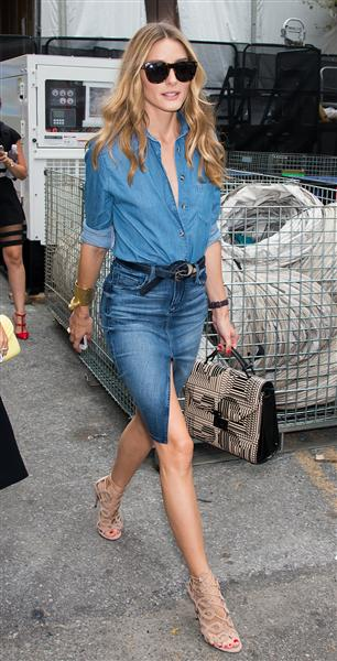 Olivia Palermo tại Tuần lễ Thời trang Mercedes-Benz ở New York (5/9)