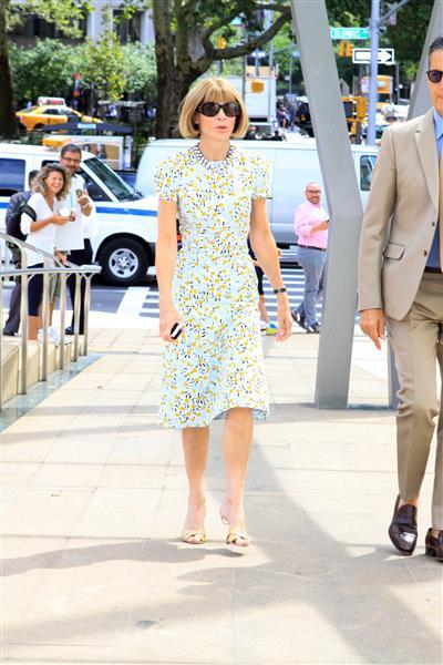 Anna Wintour đến dự một buổi tiệc vinh danh Carolina Herrera thuộc khuôn khổ Tuần lễ Thời trang New York (3/9)