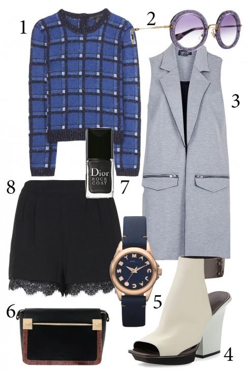 Thứ 2: Kết hợp sweatshirt cùng áo vest dài không tay cho set đồ thêm nổi bật.<br/>1. MBMJ 2. MIUMIU 3. TOPSHOP 4. 3.1PHILLIP LIM 5. MARC JACOBS 6. PEDRO 7. DIOR 8. TOPSHOP