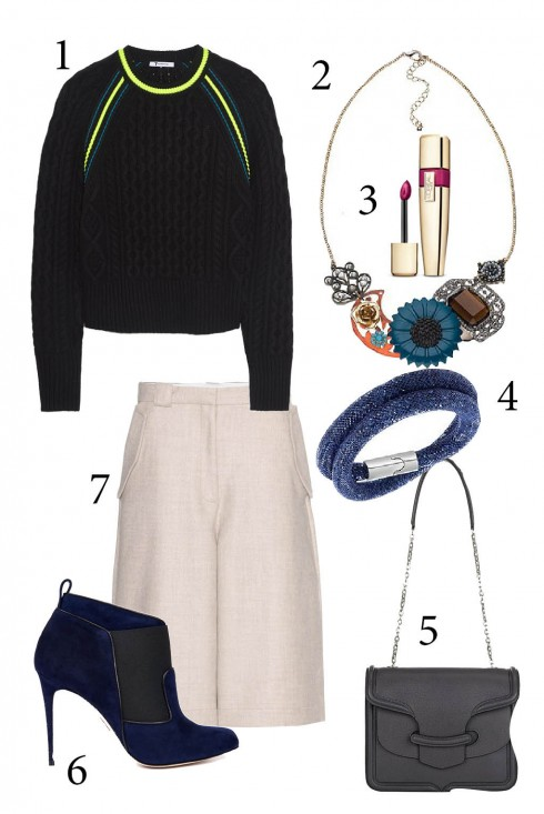 Thứ 5: Một món đồ vô cùng ăn ý với áo sweater chính là ankle bốt, phối cùng quần culottes sành điệu<br/>1. T BY ALEXANDER WANG 2. ACCESSORIZE 3. L'OREAL 4. SWAROVSKI 5. ALEXANDER MCQUEEN 6. PAUL ANDREW 7. ACNE STUDIOS