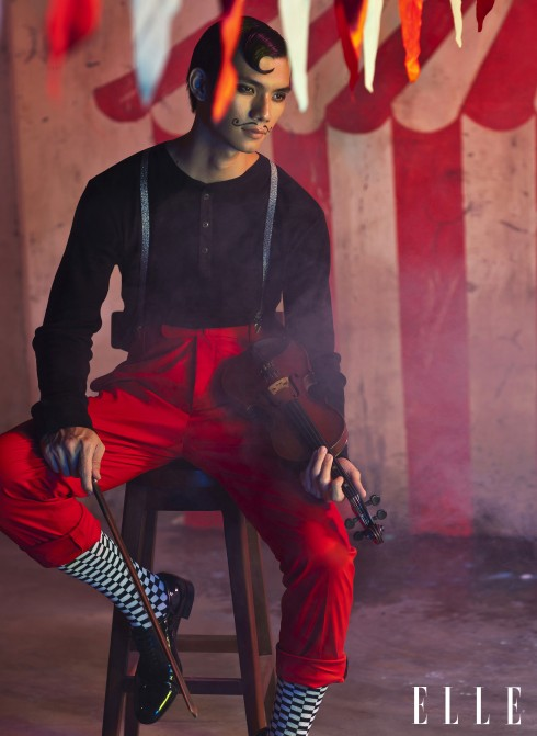 Áo Ralph Lauren, Quần Massimo Ferrari, Giày Saint Lauren