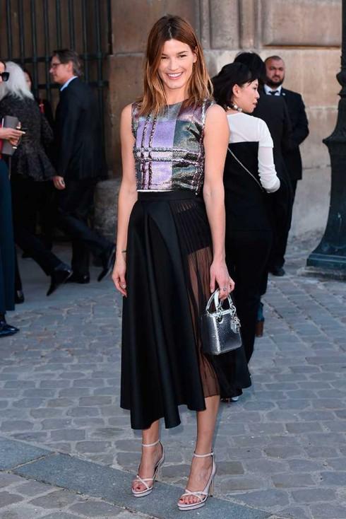 Fashionista, cựu người mẫu Hanneli Mustaparta tại show Christian Dior